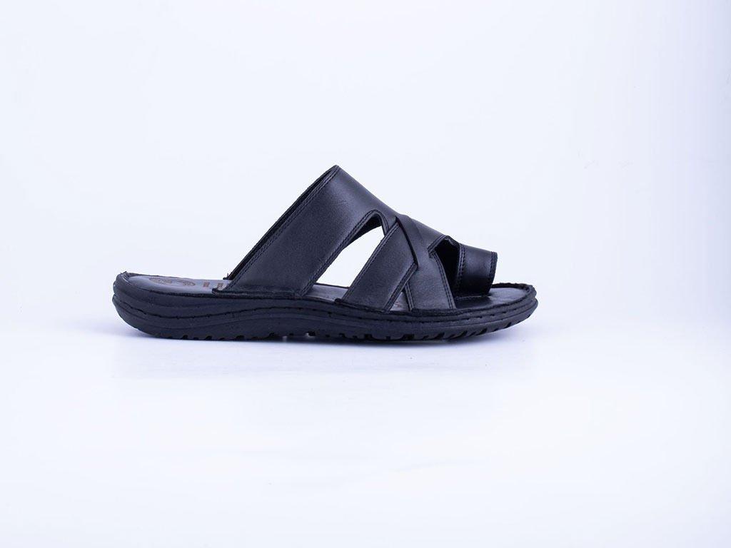 Muška kožna papuča crna - Model 7504-c