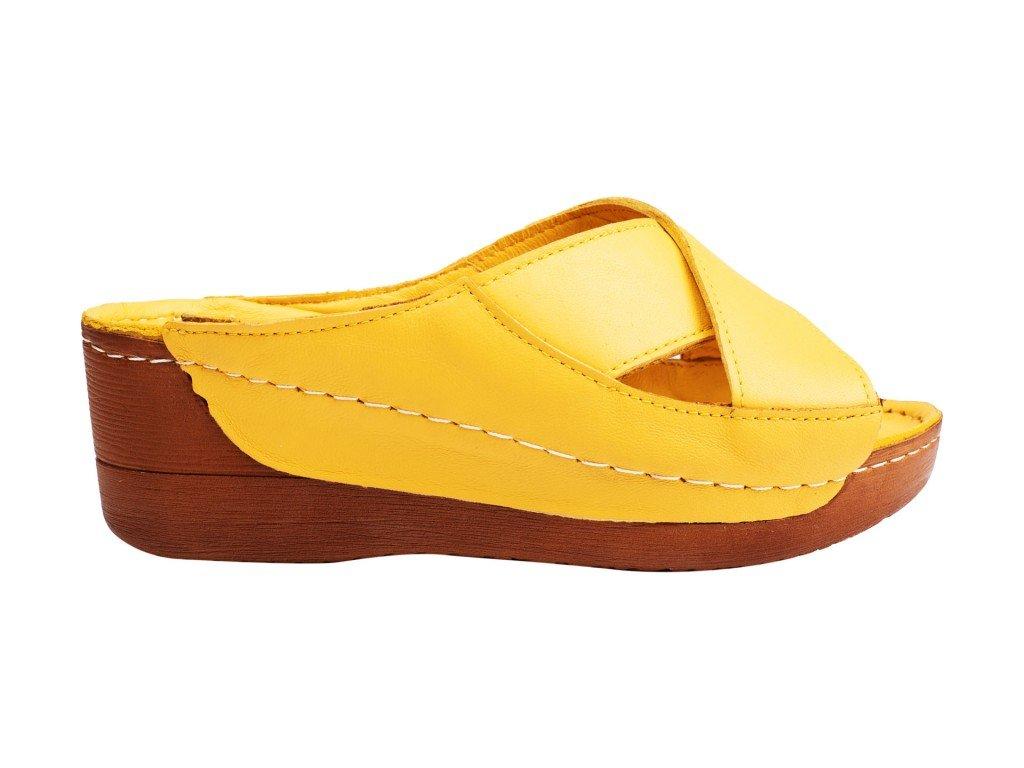 Ženska papuča žuta model 8319-z