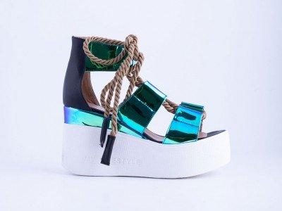 Ženska sandala plava - Model 6012-pl