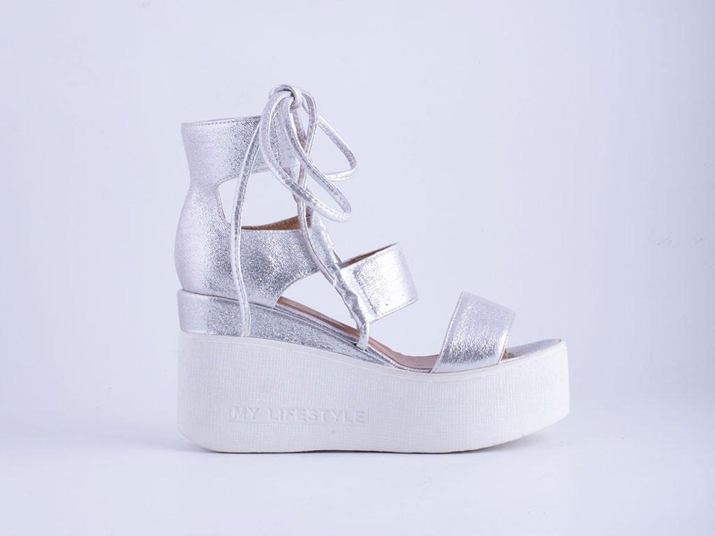 Ženska sandala srebrna - Model 6025-s