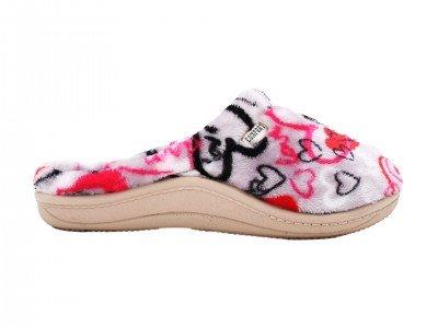 Ženska kućna papuča belo-roze - Model 1343-2-love